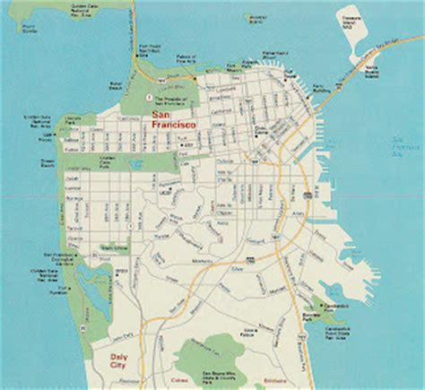 san francisco geography map san francisco sightseeing san francisco tourist attractions
