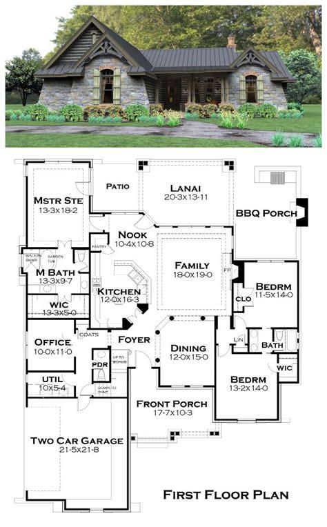 Lanai House Plans Cottage Country Tuscan House Plan 65874 Lanai Patio Half Baths And Room Kitchen