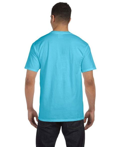 comfort colors 6030cc 6 1 oz garment dyed pocket t shirt
