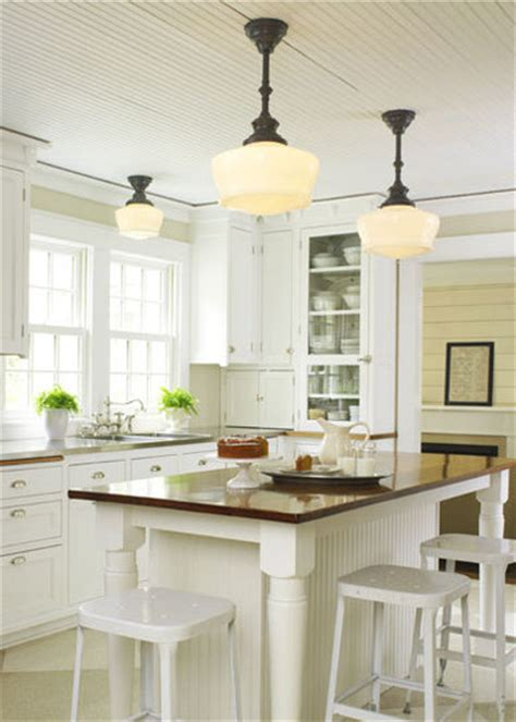 Schoolhouse Lights Kitchen | kitchen lighting pendants and lanterns interiors by
