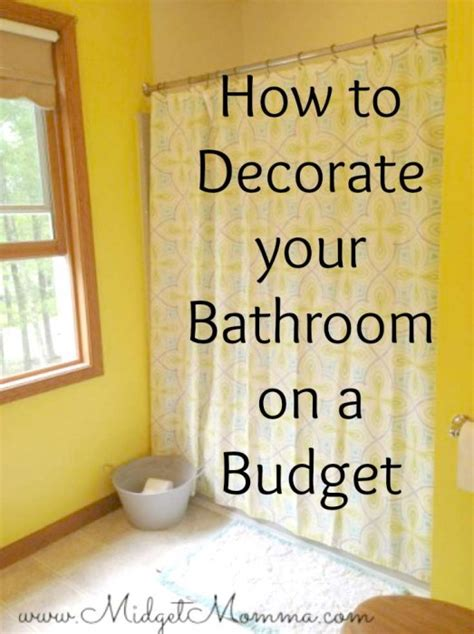 ideas to decorate a bathroom on a budget how to decorate a bathroom on a budget 28 images best