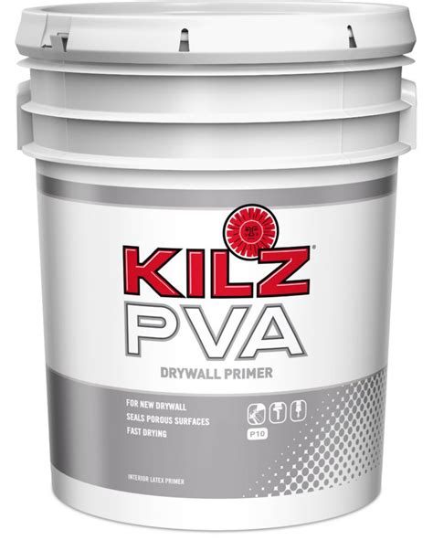 kilz pva drywall primer 18 9 l the home depot canada