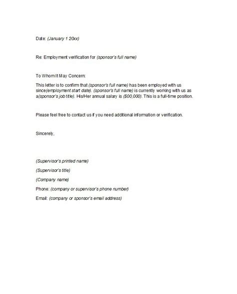 Company Employment Letter Format 40 Proof Of Employment Letters Verification Forms Templates Sles Free Template Downloads