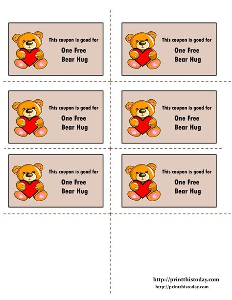 free online printable love coupons free printable love coupons