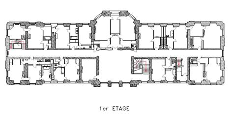 chateau de chlatreux floor plan architectural