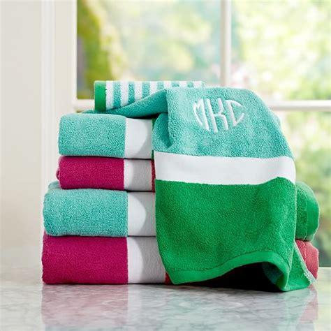 bathroom towel colors color block bath towels pbteen