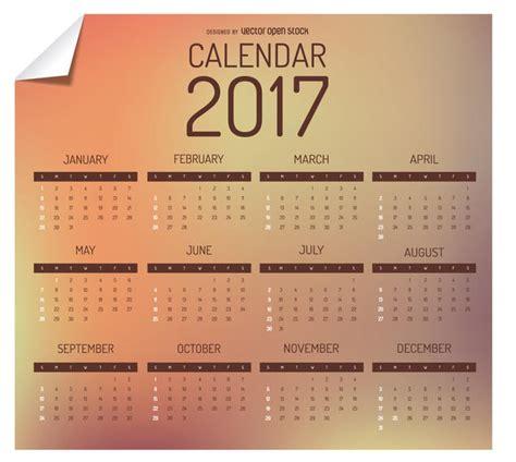 Next Year Calendar 2017 2017 Calendar Design Vector