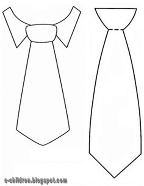 printable tie card template neck tie templates print on card stock and make a