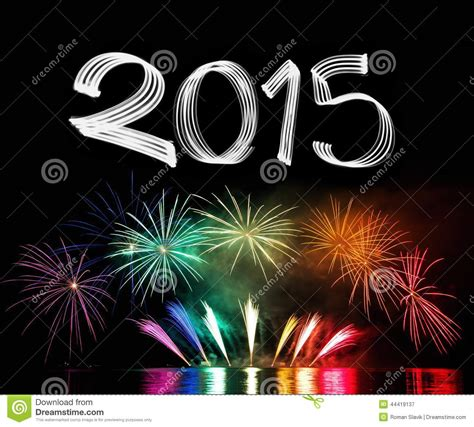 new years 2015 new year s 2015 with fireworks stock photo image