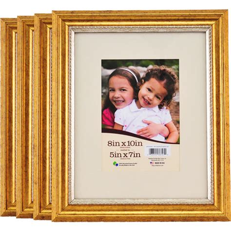 Picture Frames 8x10 Matted by 8x10 Matted Gold Picture Frames Walmart