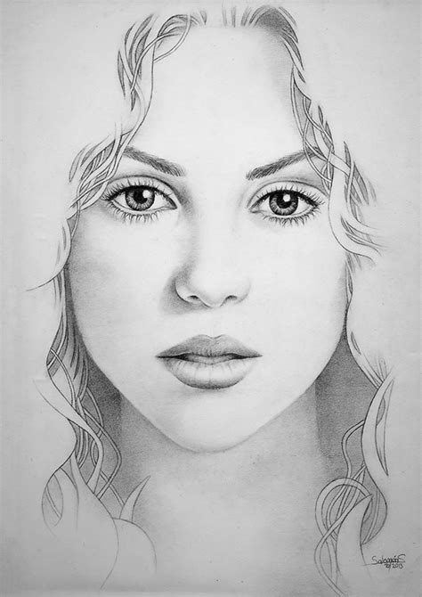 shakira drawing shakira pencil drawing on behance