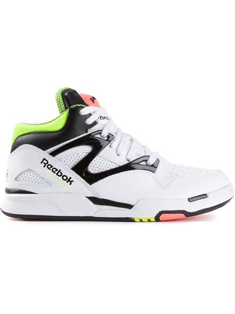 reebok pumps sneakers reebok high top sneakers in white lyst