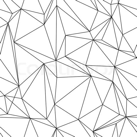 geometric line pattern abstract seanless geometrical background with triangles