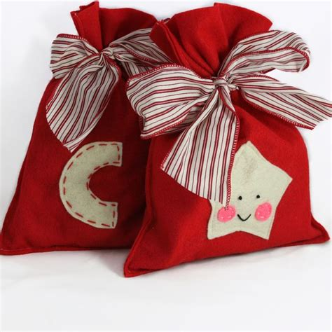 reusable felt holiday gift bags great alternative to