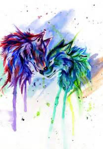 colorful wolf rainbow wolves by lucky978 on deviantart