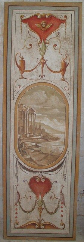 Tapeten Shabby Chic 2133 by Painted Fresco On Panel Wood Panel Mill Work