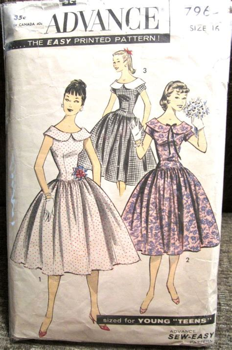 classic serendipity 34 in wide vintage advance skirt fitted bodice w wide collar