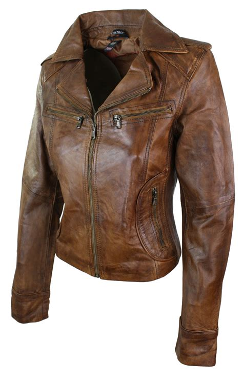 Coklat Jaket Leather Style 14 leather jacket fitted biker style washed look