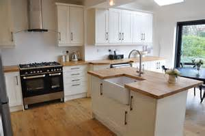 Alabaster Kitchen Cabinets Shaker Alabaster Kitchen With Solid Oak Worktops Schofield Interiors Limited