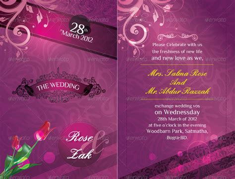 Beautiful Wedding Invitation Design by Beautiful Wedding Invitation Card Psd Wedding Invitation