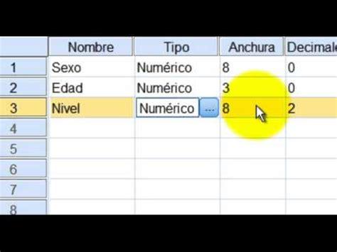tutorial spss evelio hernandez tutorial de spss video 2 youtube