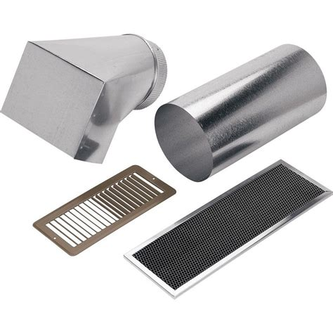 non ducted bathroom fan broan non ducted kit for range hood 356ndk the home depot