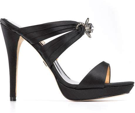 jeweled high heel sandals badgley mischka xoa jeweled high heel sandals in black lyst