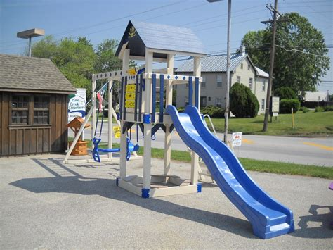 vinyl swing sets pa storage shed vinyl and wood swingsets littlestown pa