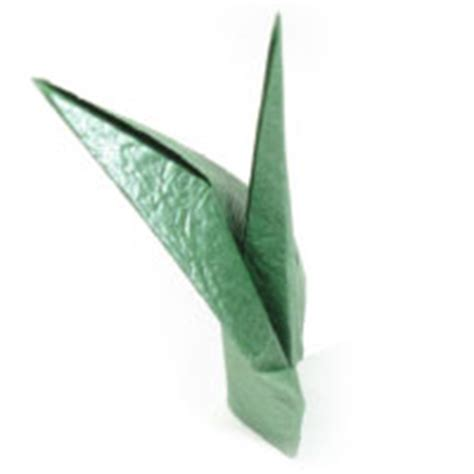 origami stem and leaf how to make origami paper flower stem