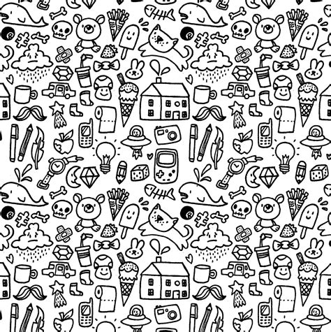 doodle your free doodle coloring pages