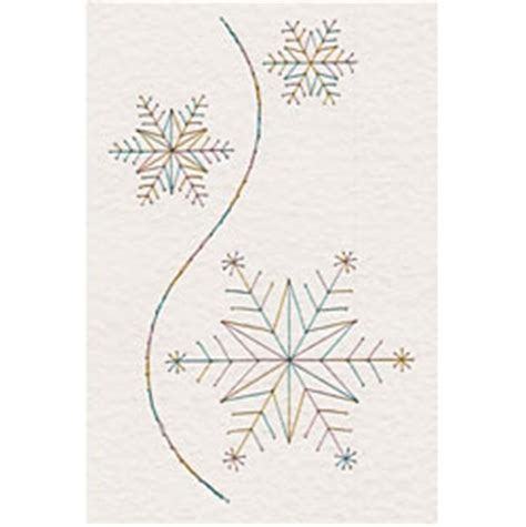 stitching card templates free snowflakes in e patterns at stitching