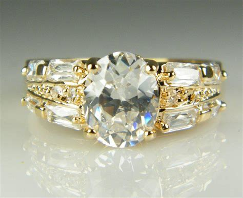 Liontin Luxury White Gold Plated 116 Free Rantai Box Pouch Cantik luxury 18k solid yellow gold plated zircon gemstone ring gold engagement wedding