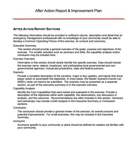 aar template sle after review template 7 documents in pdf