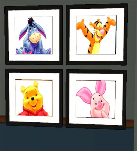 Winnie The Pooh Bedroom mod the sims winnie the pooh painting and rug set