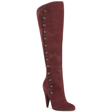 betsey johnson boots betsey johnson aleccia the knee boots in oxblood