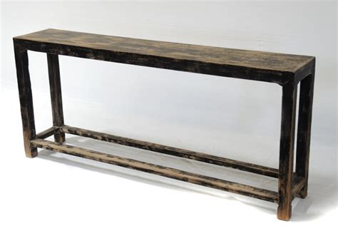 Slim Sofa Back Console Table With Shelf Custom Furniture Back Of Sofa Table