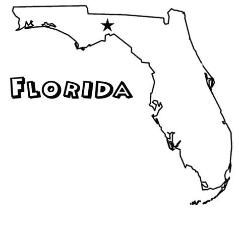 fl coloring page us states south atlantic pinterest