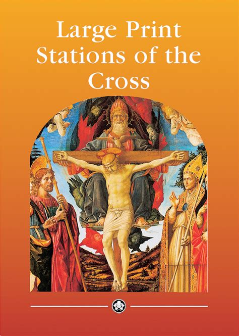 the of the cross books large print stations of the cross