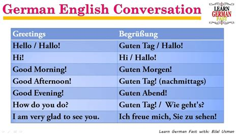 learn german  bilal german english conversation  begruessung youtube