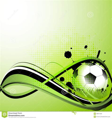 Soccer Design Template Sport Template With Soccer Football Ball Stock Vector Illustration Of Ball Ground 39871220