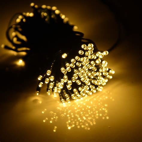72ft warm white 200 led string light solar power