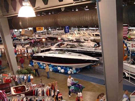 tulsa boat show the mid sized craft were in the west end and behind the