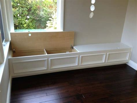 kitchen bench seating with storage how to make a custom breakfast seating nook corner storage