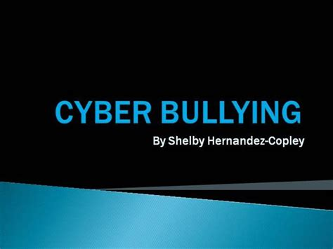 templates powerpoint bullying cyber bullying powerpoint shelby hz authorstream