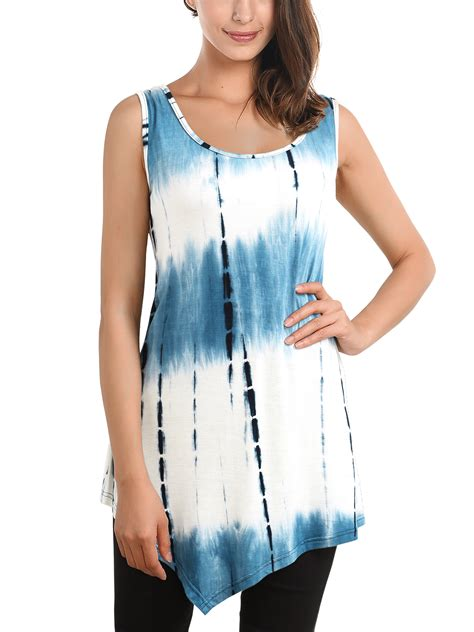 Summer Tunik 2 womens summer sleeveless handkerchief hem tie dye comfy tunic vest tank top ebay