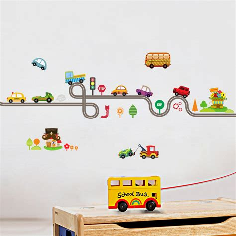 Wall Sticker Cars Track Xy1160 Cars Highway Track Wall Stickers For