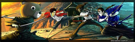 samurai chloo epic afro samurai u0026 samurai chloo crossover anime