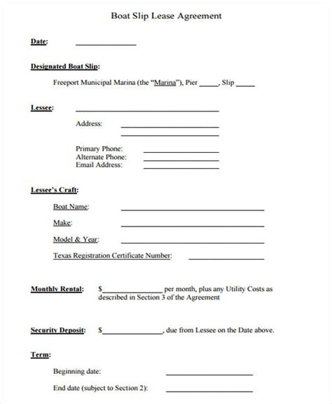 28 boat partnership agreement template boat rental