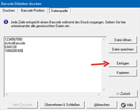 Etiketten Drucken Word Daten Excel by Etiketten Mit Datenimport Barcode Software