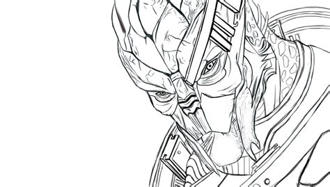 coloring book effect free garrus vakarian outline free by katrinetindlund